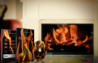 Fireplaces with Flames and Crackling Burning Wood Sounds