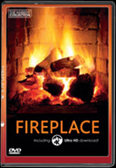 Fireplace with 4K ULTRA HD Download of Long Wood Fires with Burning Wood Sounds