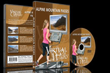 Scenic Walks over Mountain Passes for Indoor Fitness and Treadmill Exercises.